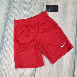 New NIKE red mesh lined shorts